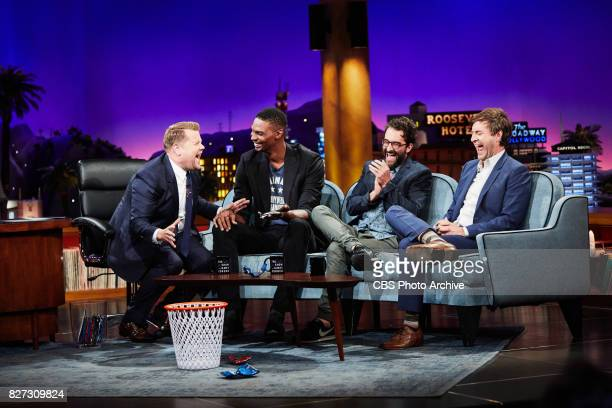 Chris Bosh Jay Duplass and Mark Duplass chat with James Corden during 'The Late Late Show with James Corden' Tuesday July 25 2017 On The CBS...