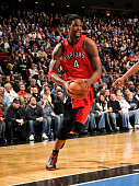 Chris Bosh of the Toronto Raptors moves the ball against the Orlando Magic during the game on January 6 2010 at Amway Arena in Orlando Florida NOTE...