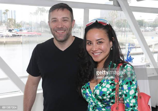 Chris Boudreau and Emily Fischer attend the DoctorFrankcom Memorial Day Yacht Cruise on May 29 2017 in Marina del Rey California