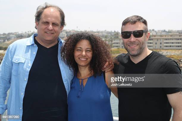 Chris Boudreau Denise Wilson and Stephen Mccamman are seen at the DoctorFrankcom Memorial Day Yacht Cruise on May 29 2017 in Marina del Rey California