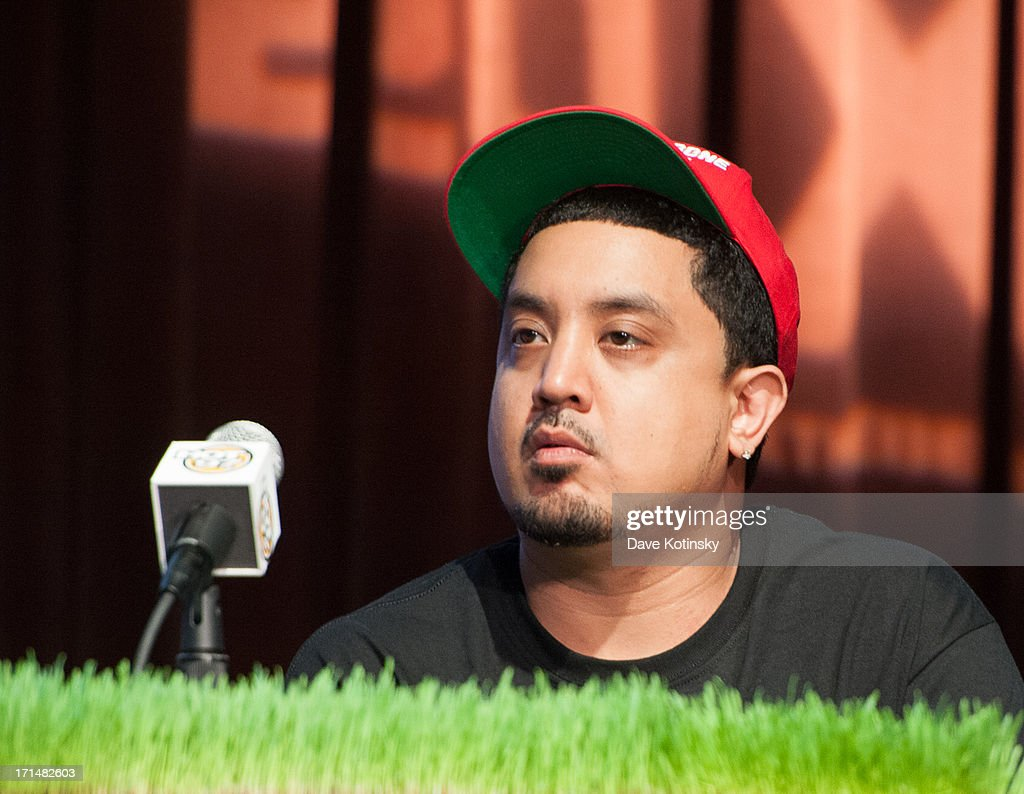 Chris 'Broadway' Romero attends the Rock The Bells 2013 press conference and launch party at Highline Ballroom on June 24, 2013 in New York City.