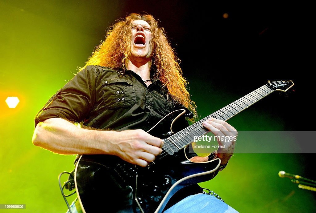 Chris Broderick of Megadeth performs at Manchester Academy on June 5, 2013 in Manchester, England.