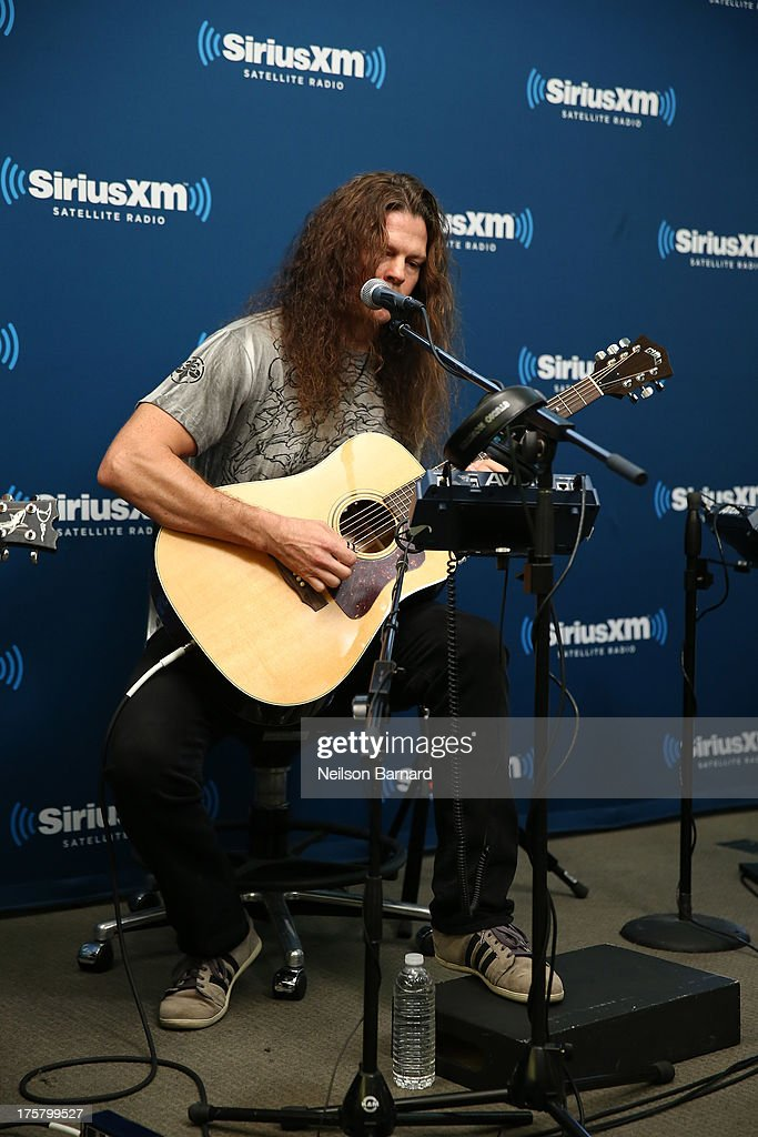 Chris Broderick of Megadeth performs at SiriusXM Studios on August 8, 2013 in New York City.