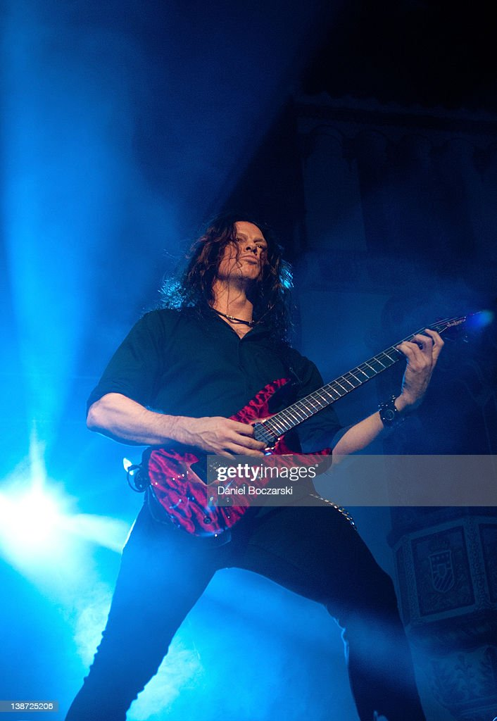 Chris Broderick of Megadeth performs at the Aragon Ballroom on February 10, 2012 in Chicago, Illinois.