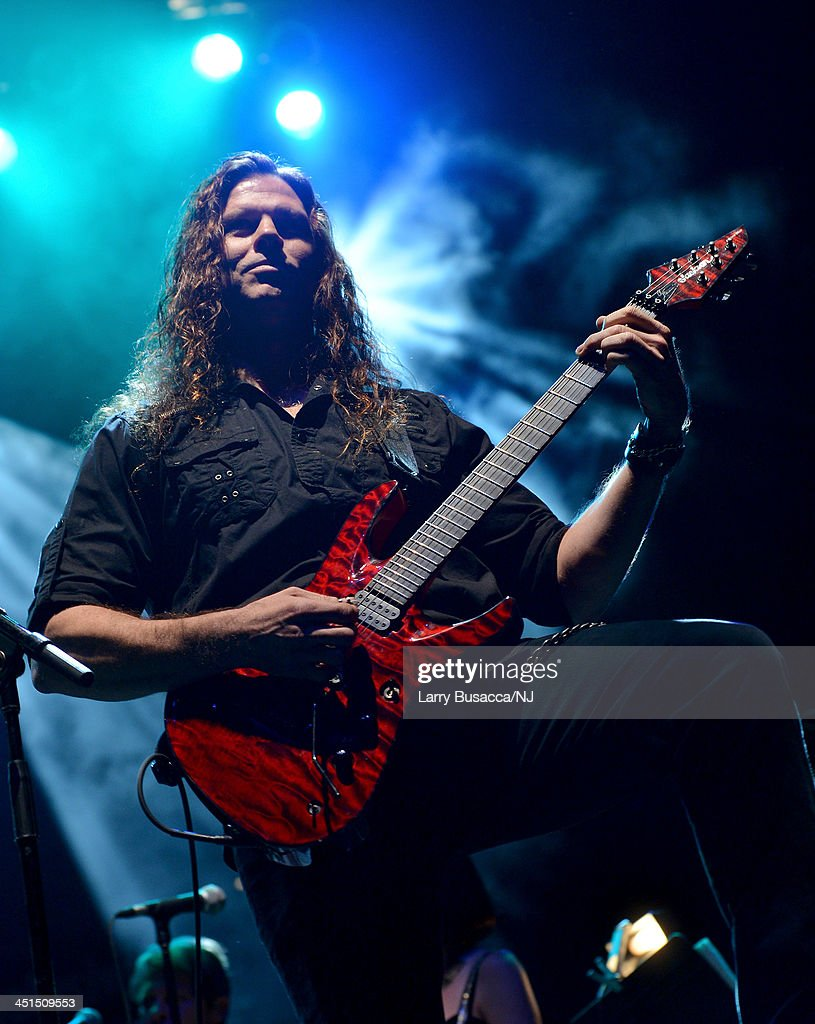Chris Broderick of Megadeth performs during Playin' Possum! The Final No Show Tribute To George Jones - Show at Bridgestone Arena on November 22, 2013 in Nashville, Tennessee.