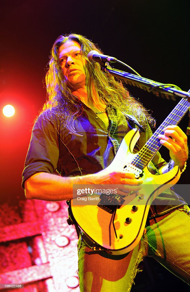 Chris Broderick of the band Megadeth performs at Best Buy Theatre on November 14, 2012 in New York City.