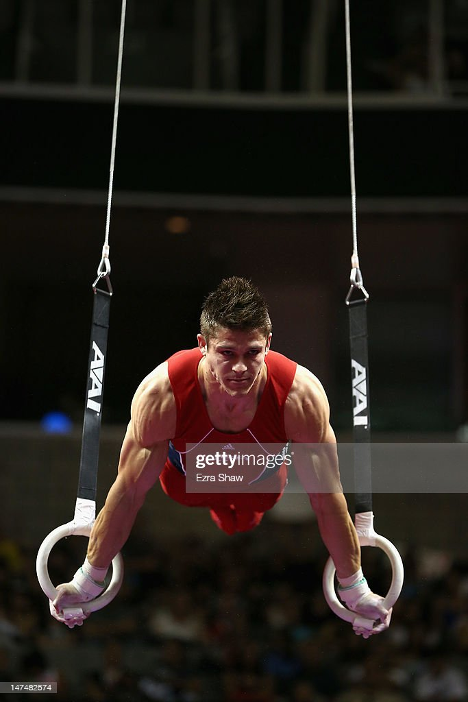 Chris Brooks competes on the rings during day 3 of the 2012 U.S. Olympic Gymnastics Team Trials at HP Pavilion on June 30, 2012 in San Jose, California.