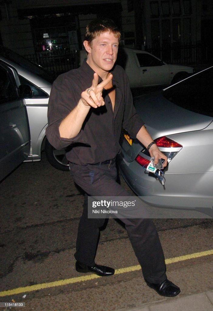 Celebrity Sightings at Claridges in London - September 27, 2006