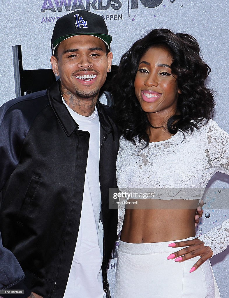 <a gi-track='captionPersonalityLinkClicked' href=/galleries/search?phrase=Chris+Brown+-+Singer&family=editorial&specificpeople=4452016 ng-click='$event.stopPropagation()'>Chris Brown</a> and Sevyn Streeter arrives at the 2013 BET Awards Make A Wish Arrivals at Nokia Plaza L.A. LIVE on June 30, 2013 in Los Angeles, California.