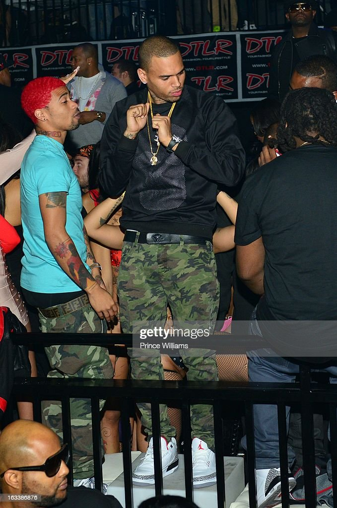 <a gi-track='captionPersonalityLinkClicked' href=/galleries/search?phrase=Chris+Brown+-+Singer&family=editorial&specificpeople=4452016 ng-click='$event.stopPropagation()'>Chris Brown</a> attends a party hosted by T.I. and Fabolous at Cameo Nightclub on March 1, 2013 in Charlotte, North Carolina.