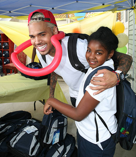 """Jenesse """"Back To School Fall Festival"""" With Special Guest ...   Chris Brown School Pictures"""