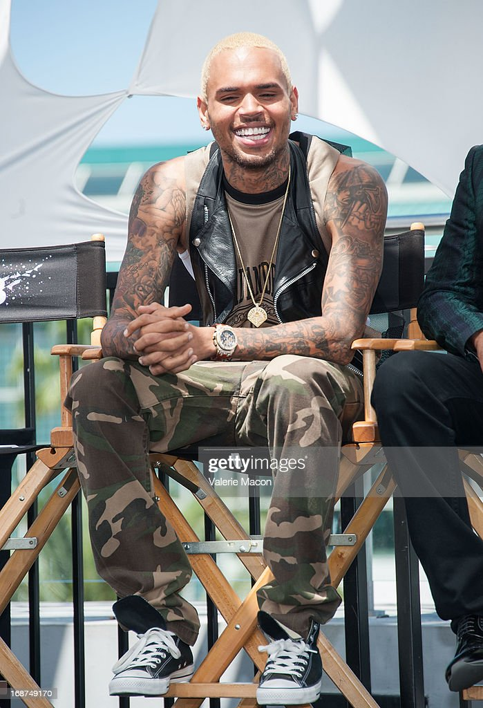 Chris Brown attends the 2013 BET Awards Press Conference at Icon Ultra Lounge on May 14, 2013 in Los Angeles, California.