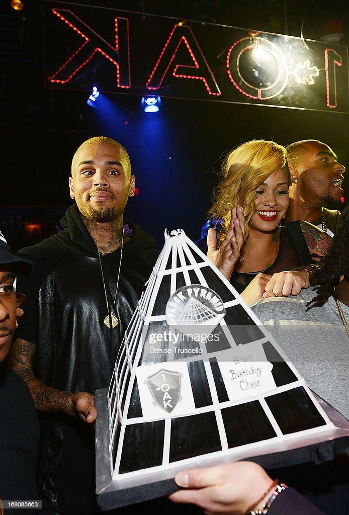 Chris Brown celebrates his birthday at 1 OAK Nightclub at The Mirage Hotel & Casino on May 4, 2013 in Las Vegas, Nevada.