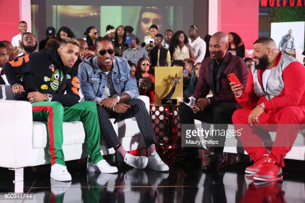 Chris Brown Future Big Tigger and DJ Khaled at the Post Show for the 2017 BET Awards on June 25 2017 in Los Angeles California
