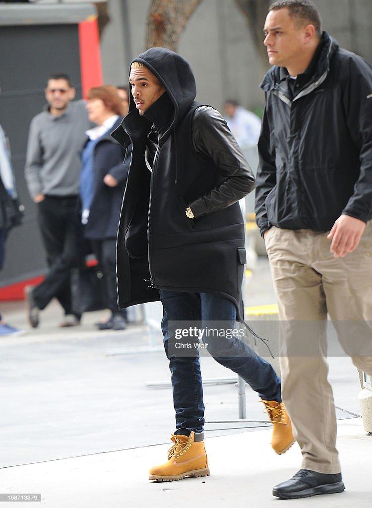 Chris Brown is seen on December 25, 2012 in Los Angeles, California.