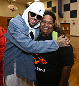 Chris Brown Make Surprise Appearance and Charitable...