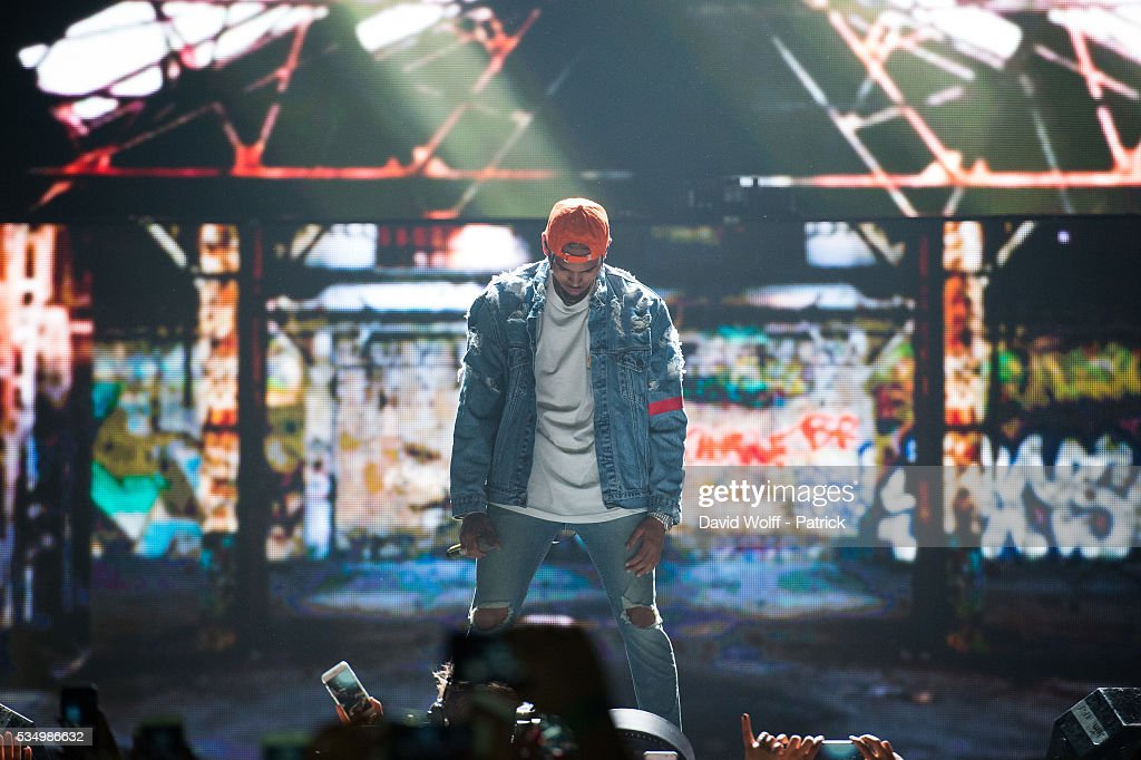 <a gi-track='captionPersonalityLinkClicked' href=/galleries/search?phrase=Chris+Brown+-+Singer&family=editorial&specificpeople=4452016 ng-click='$event.stopPropagation()'>Chris Brown</a> performs at AccorHotels Arena on May 28, 2016 in Paris, France.