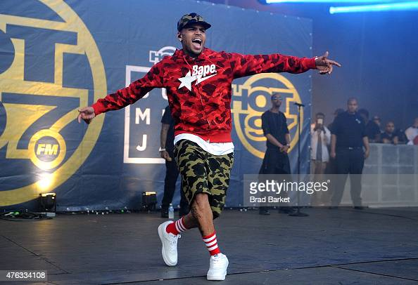 Chris Brown performs at the 2015 Hot 97 Summer Jam at MetLife Stadium on June 7 2015 in East Rutherford New Jersey