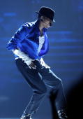 Chris Brown performs during a Michael Jackson Tribute onstage during the 2010 BET Awards held at the Shrine Auditorium on June 27 2010 in Los Angeles...