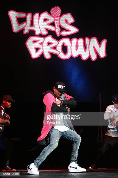Chris Brown performs during Power 1051's Powerhouse 2014 at Barclays Center on October 30 2014 in New York City