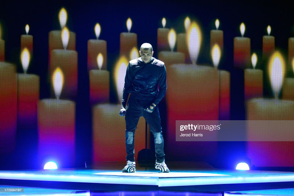 Chris Brown performs during the 2013 BET Awards at Nokia Plaza L.A. LIVE on June 30, 2013 in Los Angeles, California.