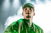 Chris Brown performs during the 'One Hell of a Nite' tour at Nikon at Jones Beach Theater on August 30 2015 in Wantagh New York