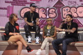 Chris Brown visits BET's '106 Park' at BET Studios on April 1 2013 in New York City