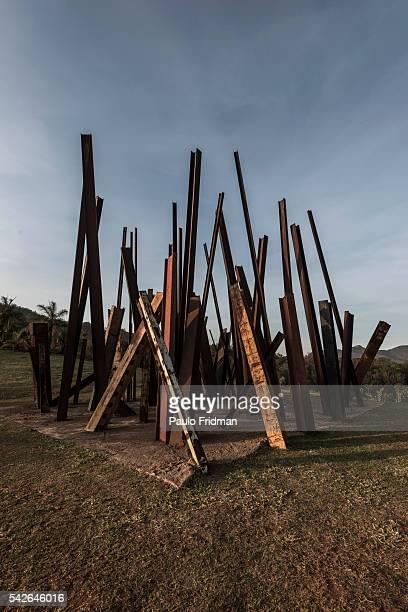 Chris Burden's 'Beam Drop' at Inhotim Contemporary Art Institute on September 7th in Brumadinho Minas Gerais Brazil