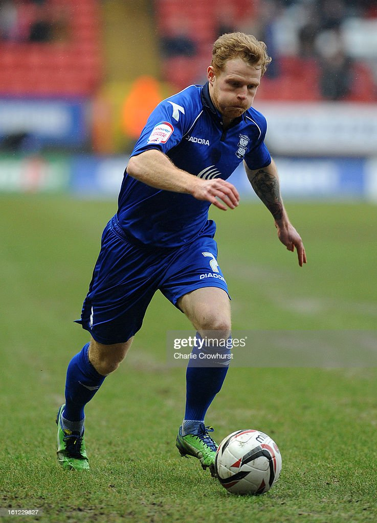 Chris Burke of Birmingham attacks during the npower Championship match between Charlton Athletic and Birmingham City at The Valley on February 09, 2013 in London England.