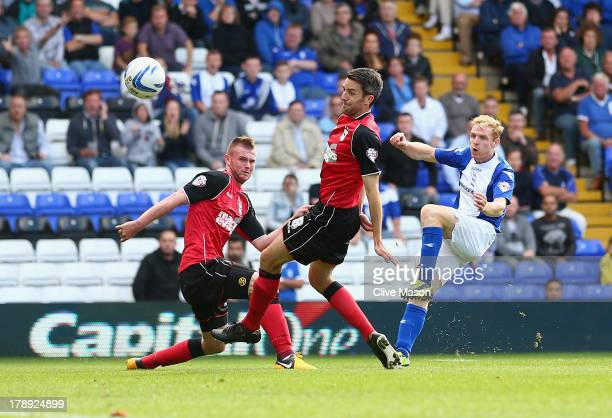 Chris Burke of Birmingham City scores during the Sky Bet Championship match between Birmingham City and Ipswich Town at St Andrews Stadium on August...