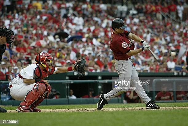 Chris Burke of the Houston Astros bats during the game against the St Louis Cardinals at Busch Stadium in St Louis Missouri on May 31 2006 The...