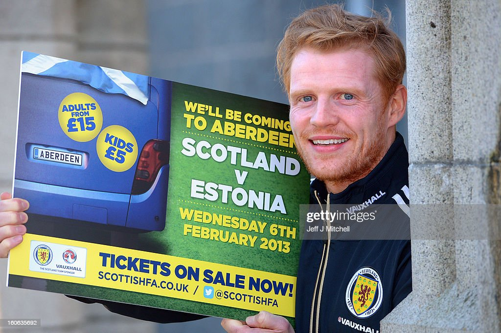 Chris Burke, poses for pictures at the Adore House Hotel, following Gordon Strachan's first training session as Scotland coach at the Aberdeen Sports village on February 4, 2013 in Aberdeen,Scotland. Gordan Strachan will have his first game in charge against Estonia in an international friendly at Pittodrie on Wednesday.
