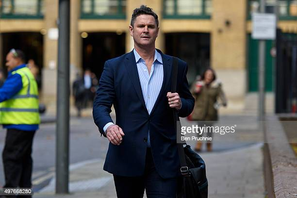 Chris Cairns arrives at Southwark Crown Court on November 18 2015 in London England The former New Zealand cricketer Chris Cairns is currently in...