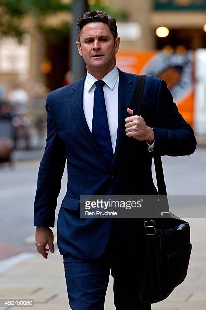 Chris Cairns arrives at Southwark Crown Court on October 15 2015 in London England The former New Zealand cricketer Chris Cairns appeared in court...