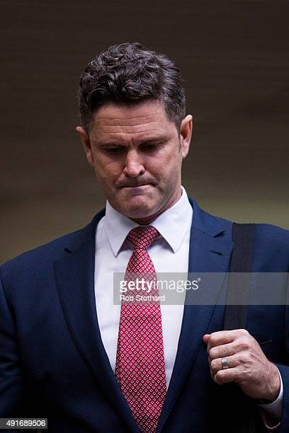 Chris Cairns former New Zealand cricketer leaves Southwark Crown Court on October 7 2015 in London England The 44yearold faces charges of perjury and...