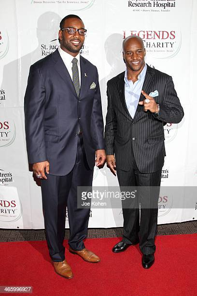Chris Canty and Deon Grant attend the 2014 Legends For Charity Dinner at Grand Hyatt New York on January 30 2014 in New York City