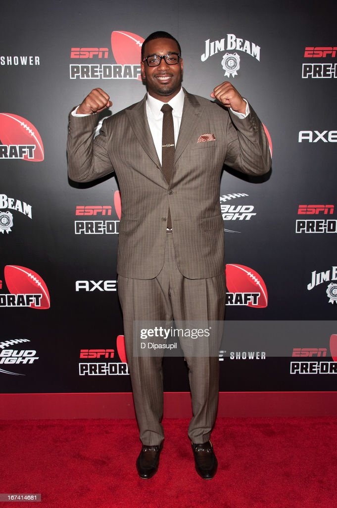 Chris Canty attends the ESPN The Magazine 10th annual Pre-Draft Party at The IAC Building on April 24, 2013 in New York City.