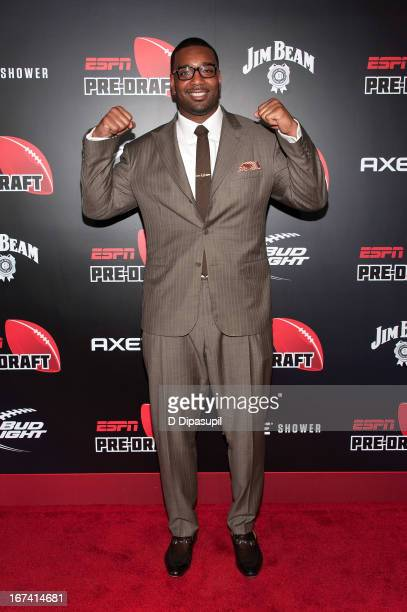 Chris Canty attends the ESPN The Magazine 10th annual PreDraft Party at The IAC Building on April 24 2013 in New York City