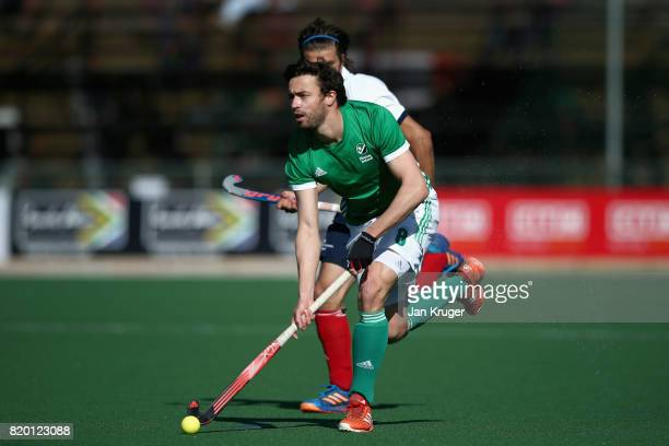 Chris Cargo of Ireland in action during the 5th8th place play off match between Ireland and France on Day 7 of the FIH Hockey World League Men's Semi...