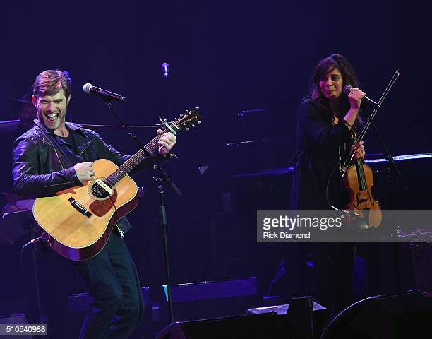 Chris Carmack and Erin Slaver perform during 'Nashville for Africa' a Benefit for the African Childrens Choir at the Ryman Auditorium on February 15...