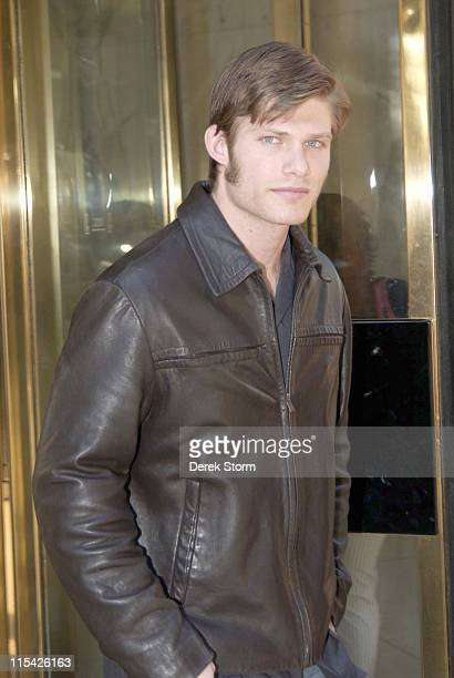 Chris Carmack during Samaire Armstrong Chris Carmack and Harry Shearer Visit WB11's 'Morning News' March 21 2006 at WB11 Studios in New York City NY...
