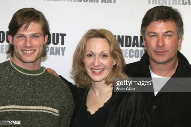 Chris Carmack Jan Maxwell and Alec Baldwin during The Roundabout Theater Company's 'Entertaining Mr Sloane' Photocall at Roundabout Rehearsal Space...