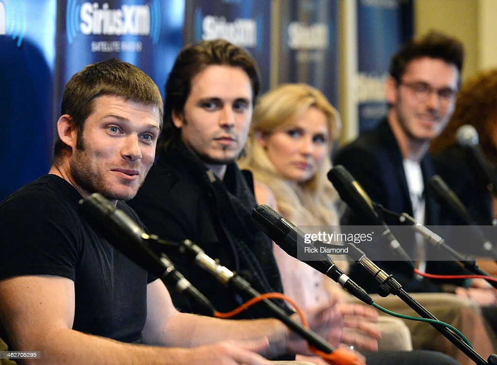 Chris Carmack Jonathan Jackson Clare Bowen and Sam Palladio attend Cast Of ABC's 'Nashville' Answer Questions From Fans During A SiriusXM 'Town Hall'...