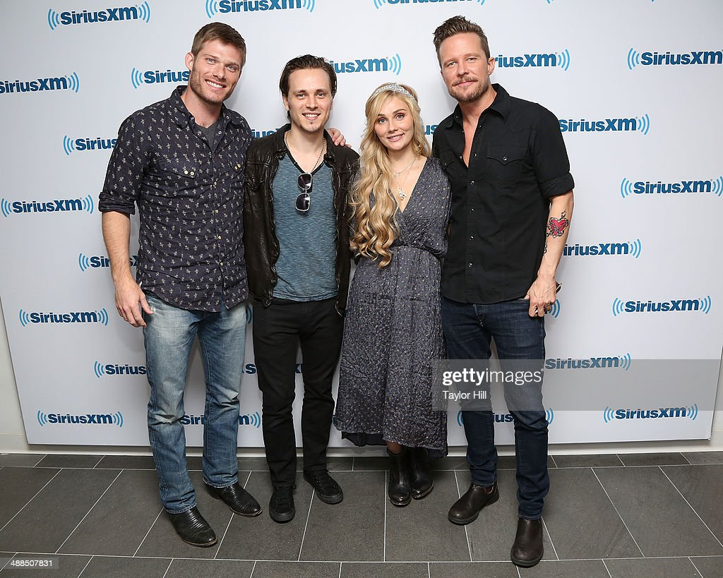 Chris Carmack Jonathan Jackson Clare Bowen and Will Chase of 'Nashville' visit the SiriusXM Studios on May 6 2014 in New York City