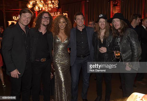 Chris Carmack Kelby Ray of The Cadillac Three Chaley Rose Eric Close and Neil Mason and Jaren Johnston of The Cadillac Three attend the Big Machine...