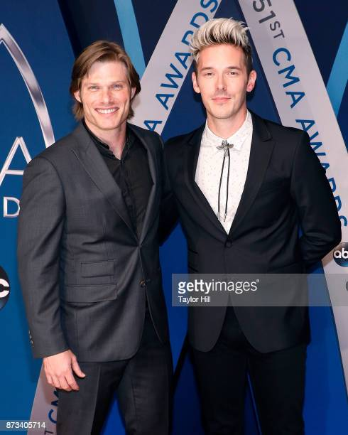 Chris Carnack and Sam Palladio attend the 51st annual CMA Awards at the Bridgestone Arena on November 8 2017 in Nashville Tennessee
