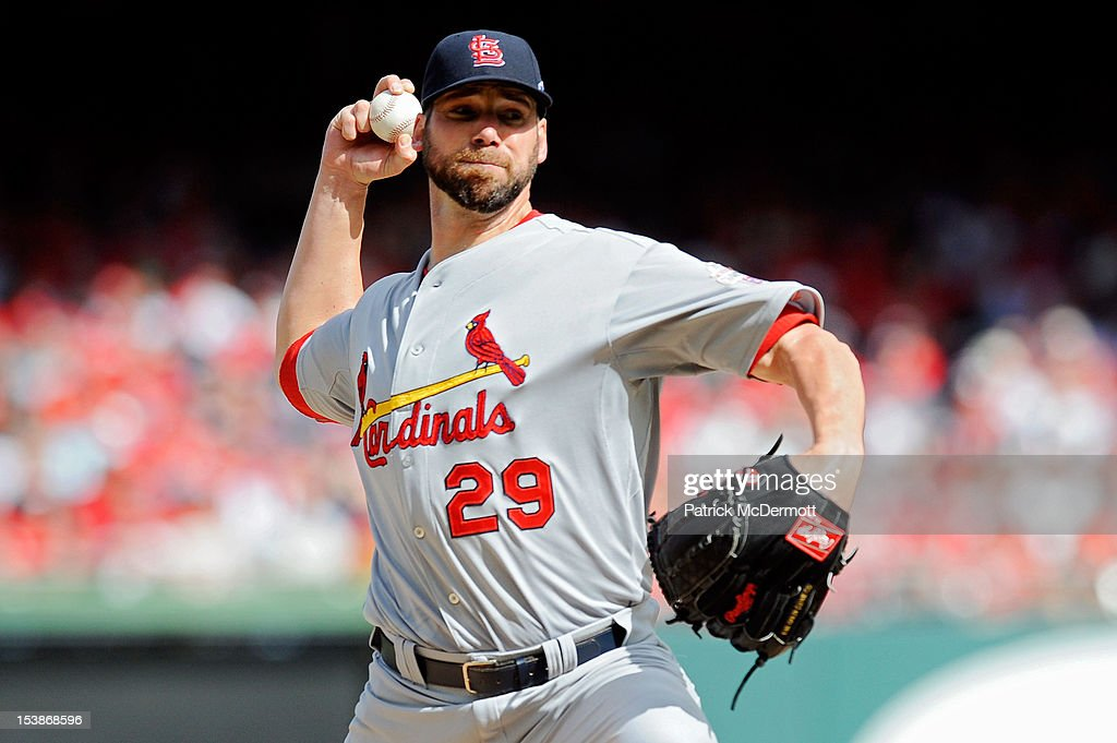 <a gi-track='captionPersonalityLinkClicked' href=/galleries/search?phrase=Chris+Carpenter+-+Baseball+Player&family=editorial&specificpeople=208139 ng-click='$event.stopPropagation()'>Chris Carpenter</a> #29 of the St. Louis Cardinals pitches against the Washington Nationals during Game Three of the National League Division Series at Nationals Park on October 10, 2012 in Washington, DC.