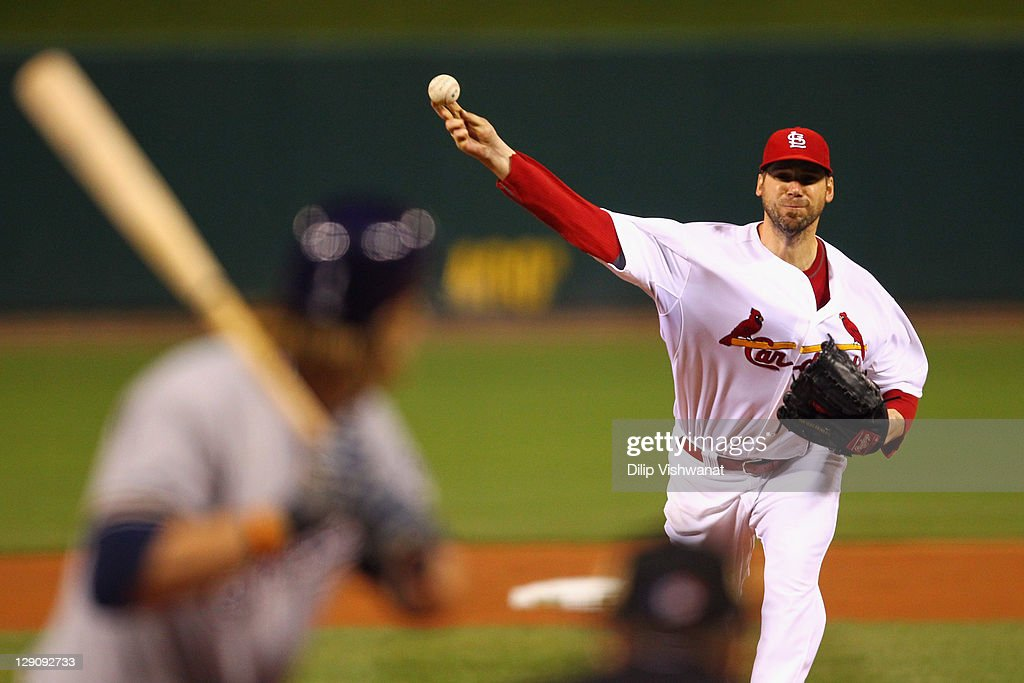 <a gi-track='captionPersonalityLinkClicked' href=/galleries/search?phrase=Chris+Carpenter+-+Baseball+Player&family=editorial&specificpeople=208139 ng-click='$event.stopPropagation()'>Chris Carpenter</a> #29 of the St. Louis Cardinals throws a pitch against the Milwaukee Brewers during Game Three of the National League Championship Series at Busch Stadium on October 12, 2011 in St Louis, Missouri.