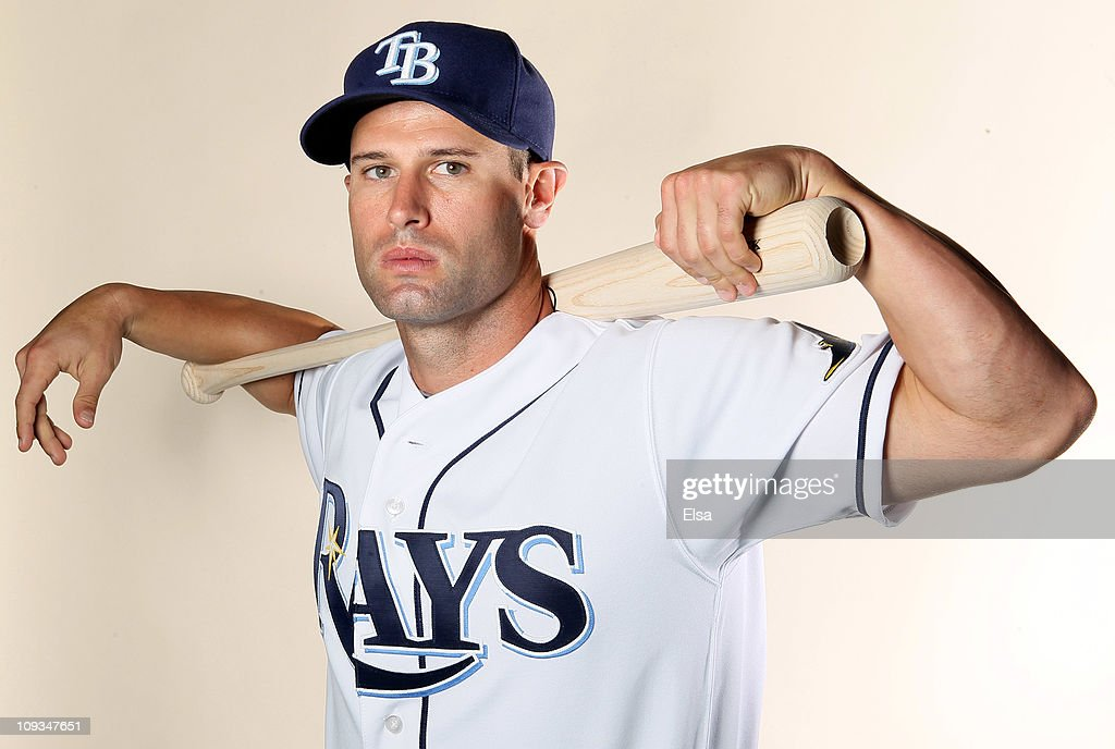 Chris Carter of the Tampa Bay Rays poses for a portrait during the Tampa Bay Rays Photo Day on February 22 2011 at the Charlotte Sports Complex in...