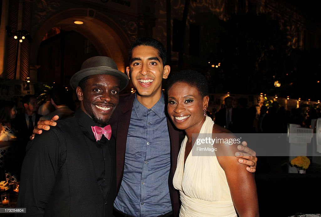 Chris Chalk, <a gi-track='captionPersonalityLinkClicked' href=/galleries/search?phrase=Dev+Patel&family=editorial&specificpeople=5123545 ng-click='$event.stopPropagation()'>Dev Patel</a> and <a gi-track='captionPersonalityLinkClicked' href=/galleries/search?phrase=Adina+Porter&family=editorial&specificpeople=2244592 ng-click='$event.stopPropagation()'>Adina Porter</a> attend the after party for HBO's 'The Newsroom' season 2 premiere at Paramount Studios on July 10, 2013 in Hollywood, California.